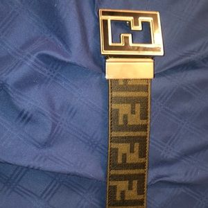 Black Fendi Belt Reversible
